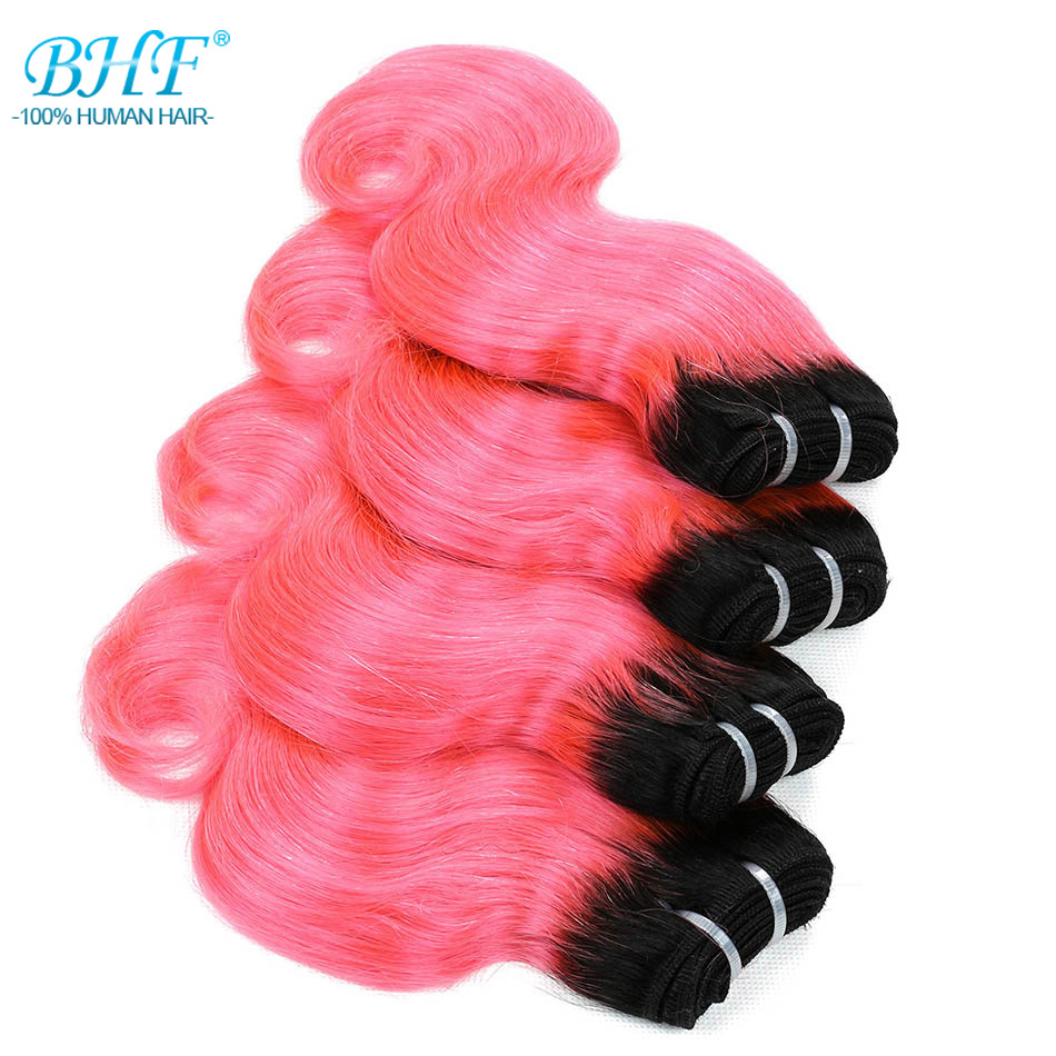 Image 4 - BHF 100% Human Hair Body Wave 3pcs lot With Closure Non remy 8inch 50g/pack Hair Extensions-in 3/4 Bundles with Closure from Hair Extensions & Wigs