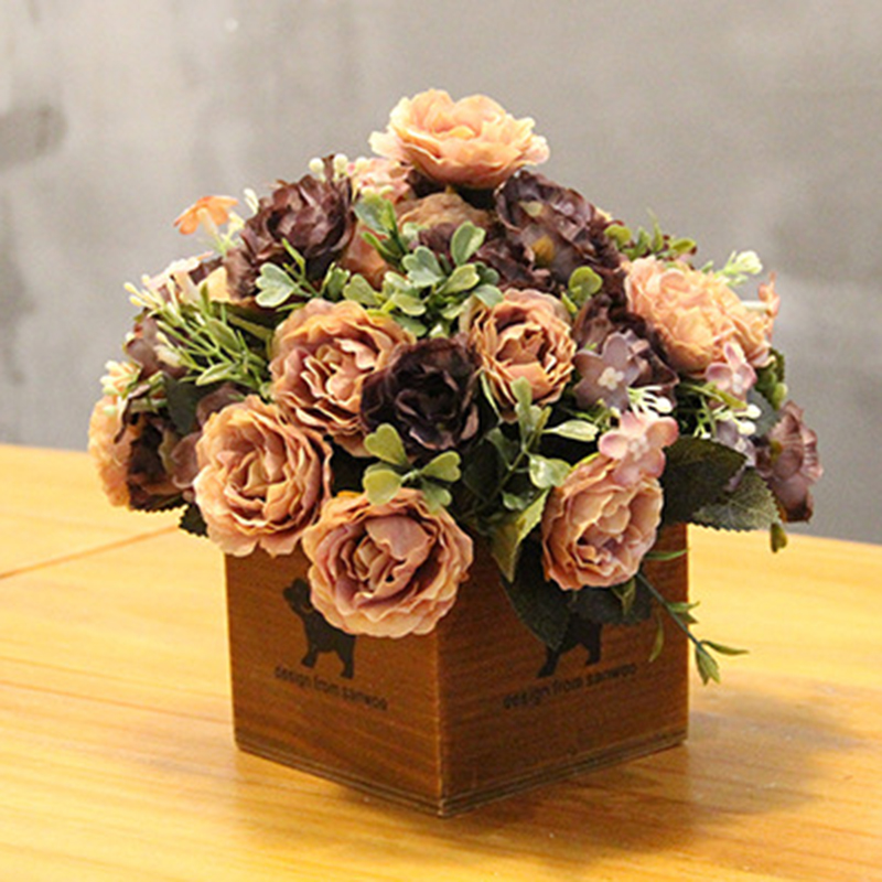 Medical & Mobility Clothing, Shoes & Accessories Intelligent 1 Pcs Tea Rose Artificial Flowers Without Vase Party Hotel Office Wedding Artificial Flower Decoration Or Valentines Day Gift Top Watermelons