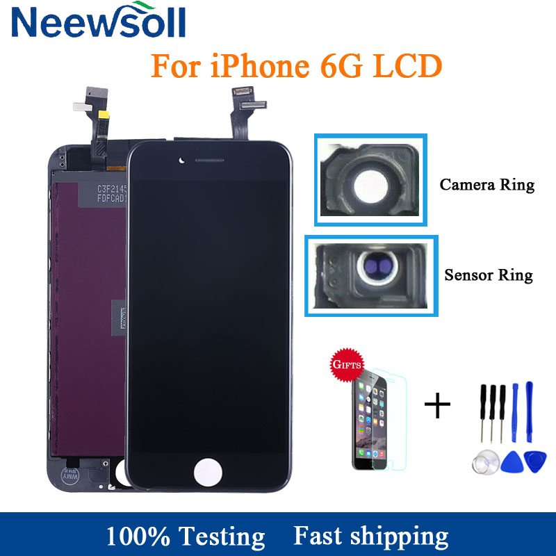AAA Quality LCD Screen For iPhone 6 Display Assembly Replacement with Original Digitizer Phone Parts with Free Gifts