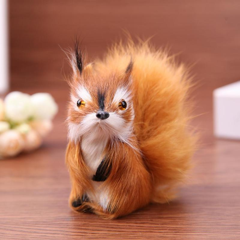Mini Stuffed Toys Simulation Animal Doll Plush Squirrel Kids Toys Home Decoration Plush Doll Cute Kids Toys Birthday Gift
