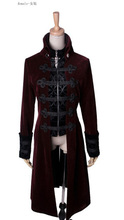 Fashion Gothic Punk Streampunk Mens Jacket Coat Hoodie Black Military Cosplay outfit
