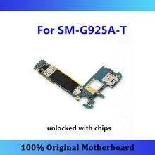 Полностью оригинальная логическая плата разблокирована для Samsung Galaxy S6 Edge G925A-T материнская плата с чипами завершенная материнская плата полностью проверена