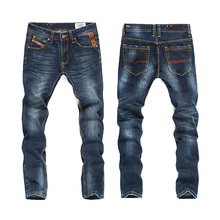 New Famous Brand Design Style Jeans High Quality Straight Denim Pants Men Homme Ripped Jeans Male Biker Trousers