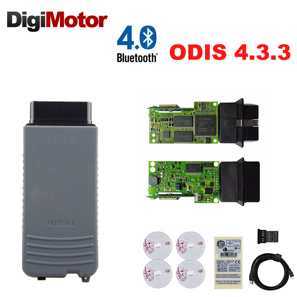 D'origine Plein Puce OKI VAS 5054A AMB2300 UDS ODIS v4.3.3 OBD2 Voiture Outil De Diagnostic Bluetooth Adaptateur 5054 De Voiture Outil De Diagnostic