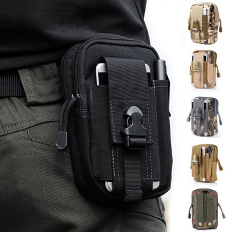 Hunting Molle Belt Pouch EDC Waist Bag Military Phone Utility Holster Tactical Pocket Pack For Camping Climbing Shooting