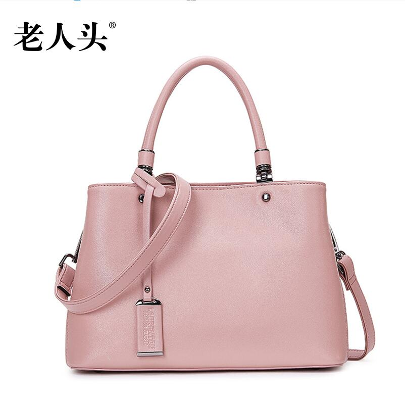 Women bag 2016 quality genuine leather bag famous brands fashion simple quality women leather handbags shoulder messenger bag