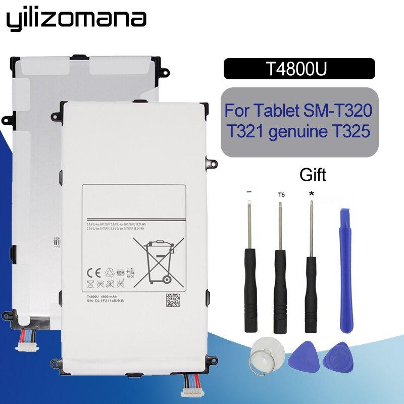 YILIZOMANA Original batería de repuesto T4800U T4800E para Samsung Galaxy Tab Pro 8,4 En SM-T321 T325 T320 T321 Tablet PC 4800 mah
