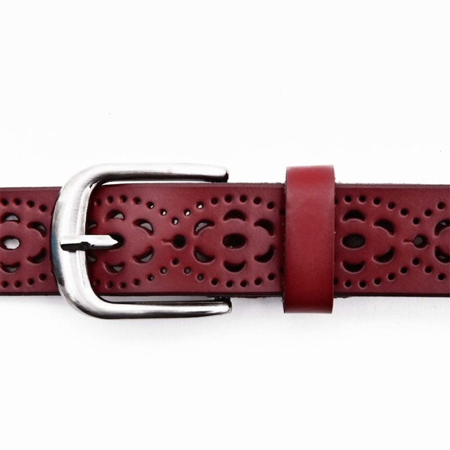 New Women Fashion Wide Genuine Leather Belt Woman Without Drilling Luxury Jeans Belts Female Top Quality Straps Ceinture Femme 3