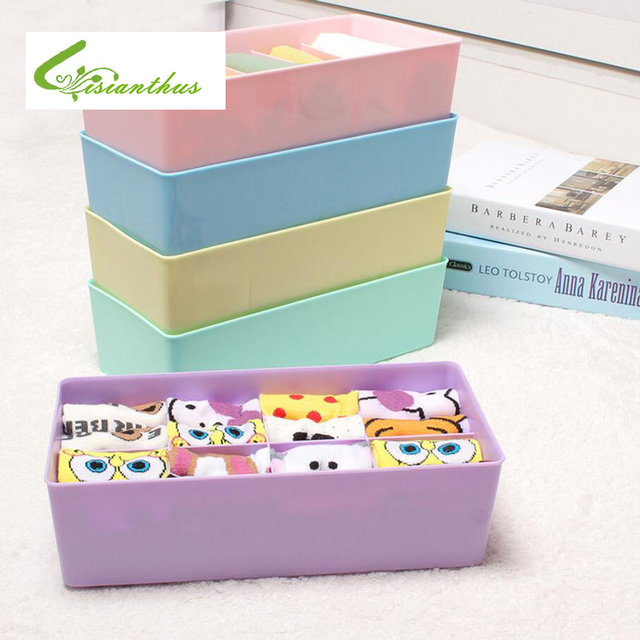 1PCS Storage Boxes For Ties Socks Shorts Bra Underwear Divider Drawer Lidded  Closet Home Organizer Ropa