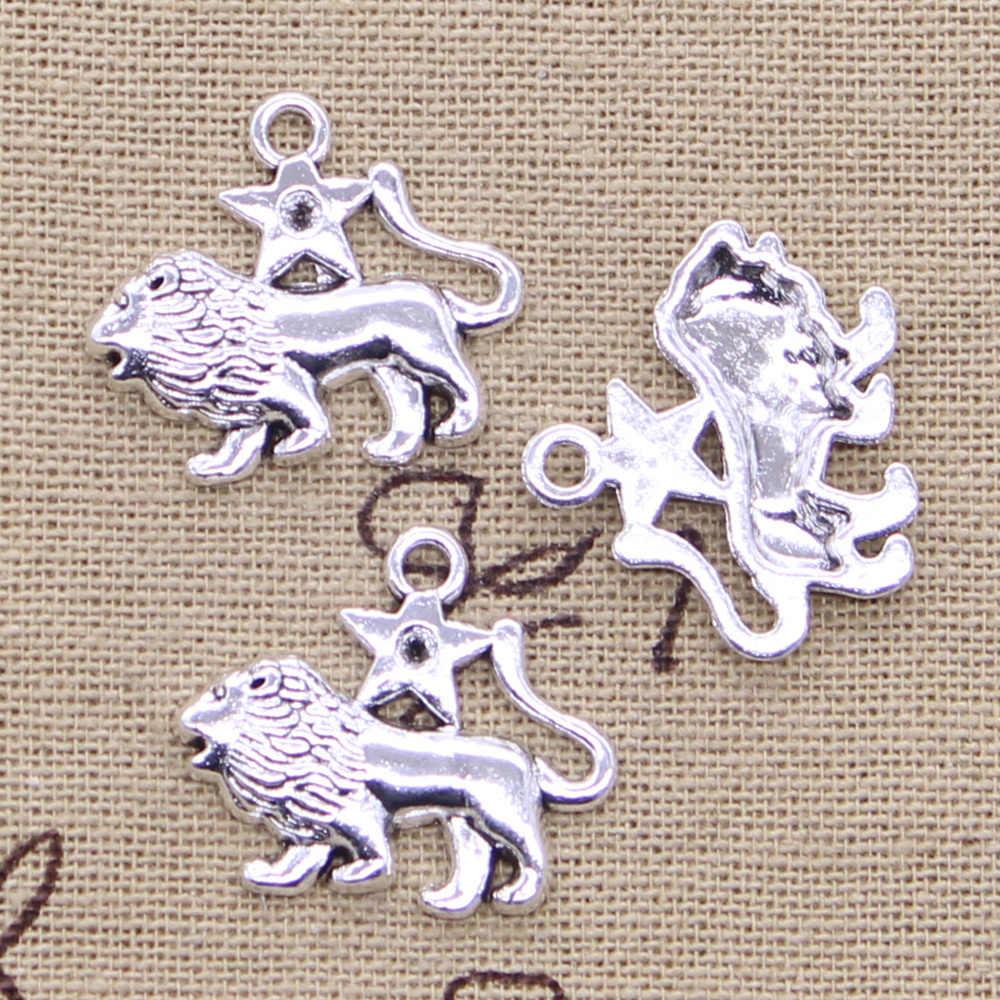 12 tipi di Pendenti e Ciondoli Zodiaco Vigro Ariete Cancro Leone Libra Gemini Argento Antico di Colore Pendenti con gemme e perle Che Fanno A Mano FAI DA TE TibetanJewelry