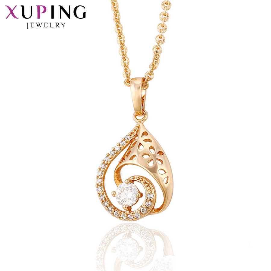 Xuping Luxury Necklace Pendants Rose Gold Color Fashion European Style Jewelry Thanksgiving Gifts For Women S111,9-30947