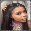 Long light yaki straight glueless lace front wig &free part No lace&high ponytails full lace wig 100% fiber synthetic can heat