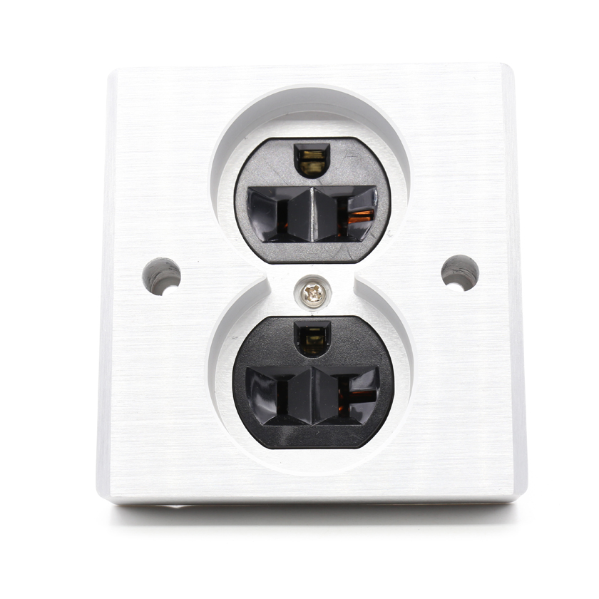 Free shipping 2pcs black High Quality Power US AC Power Receptacle Wall Outlet Copper Socket free shipping 2pcs black high quality power us ac power receptacle wall outlet copper socket