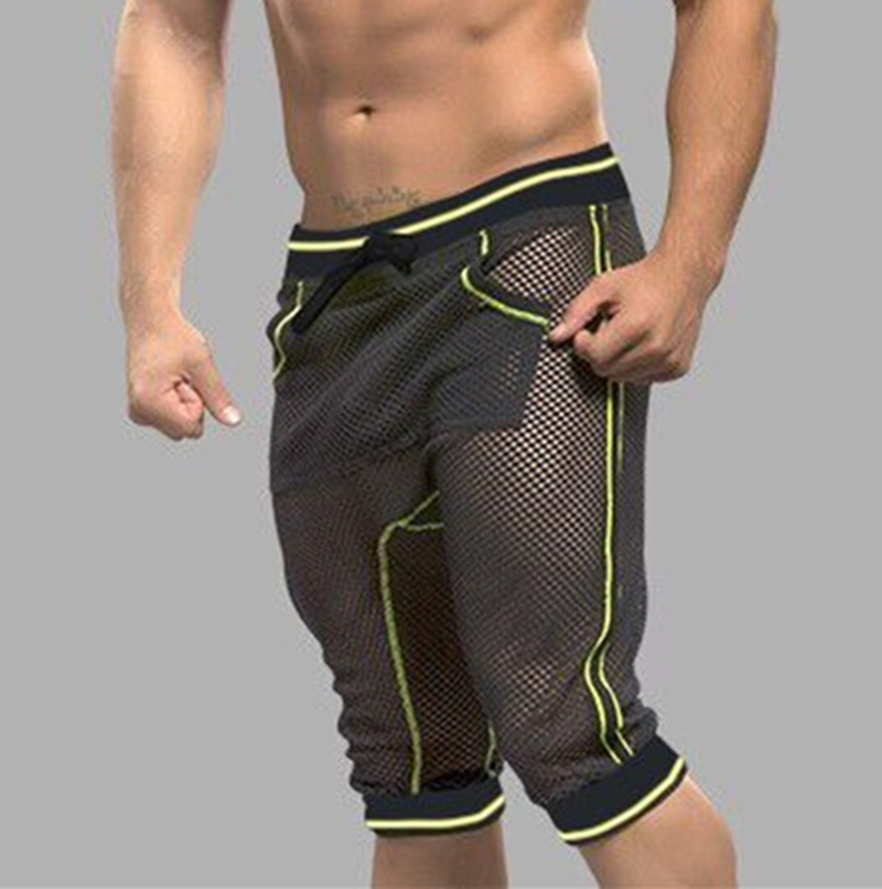 Men Harem Shorts Male Home Short Clothes Mens Mesh Short Men's Sexy Casual Shorts