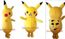 2015Top Grade Deluxe Pikachu Mascot Costume Cartoon Character Costumes Mascot Costume Fancy Dress Party Suit