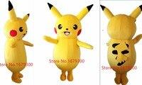 2015Top Grade Deluxe Pikachu Mascotte Kostuum Cartoon Kostuums Mascotte Kostuum Themafeest Pak