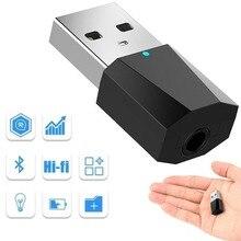 Беспроводной автомобильный мини AUX Bluetooth приемник адаптер беспроводной Bluetooth аудио ресивер музыка Колонки USB Bluetooth AUX автомобильный комплект