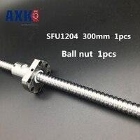 1204 Ball Screw SFU1204 300mm Rolled Ballscrew With Single Ballnut For CNC Parts