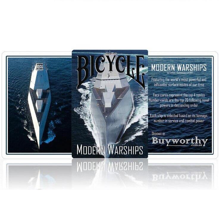 Vélo Moderne Navires de Guerre Cartes À Jouer Poker Taille Pont USPCC Personnalisé Nouvelle Édition Magie Cartes Tours de Magie Props