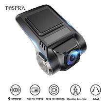 TOSPRA ADAS Mini Car DVR Camera Dash Cam Full HD LDWS Digital Video Recorder Dashcam For Android DVR Camera Multimedia Player(China)
