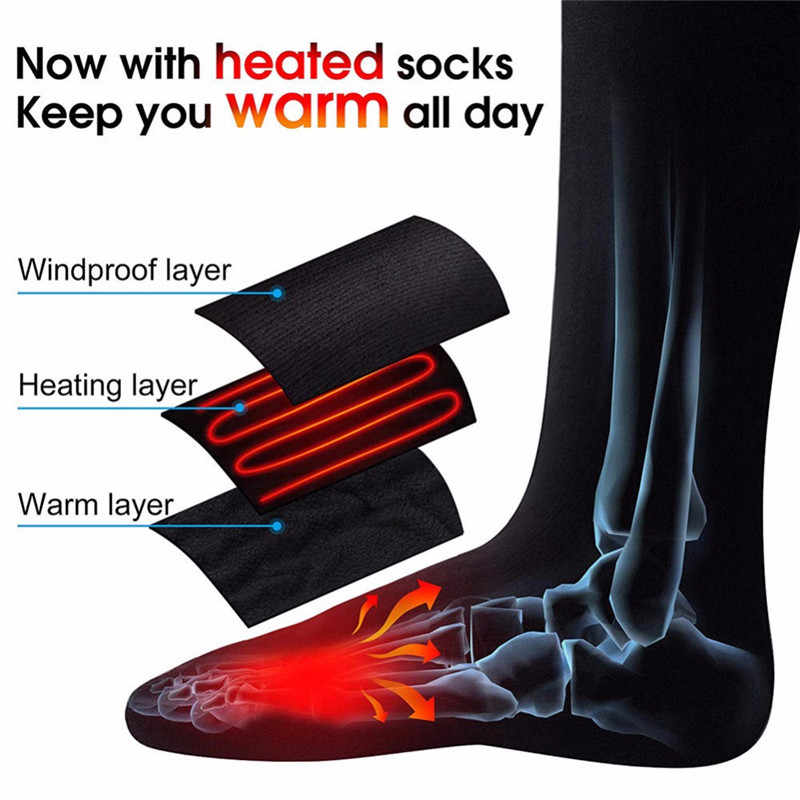 d3143d36c72 Dropship 100% Cotton Winter Feet Warm Paste Pads Heated Socks Warm Foot  Warmers Electric Warming