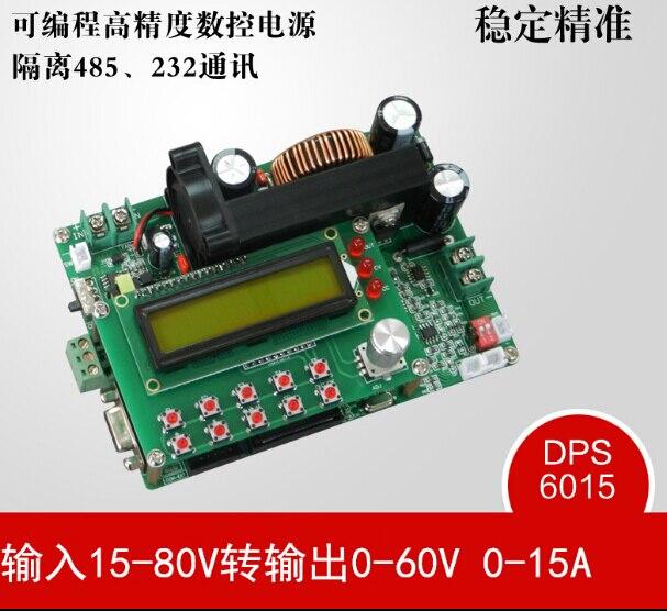 D6015A программируемый Nc Dc Стабилизированный постоянный ток Питание Регулируемый модуль понижающий изолированный 485 232 Связь