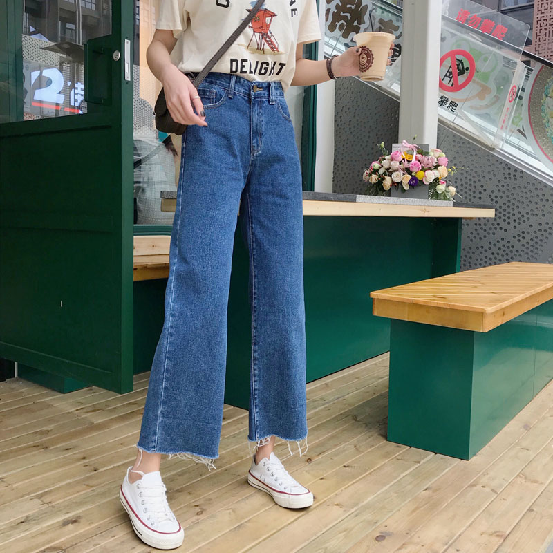 Cheap Wholesale 2019 New Spring Summer Autumn Hot Selling Women's Fashion Casual  Denim Pants FP206