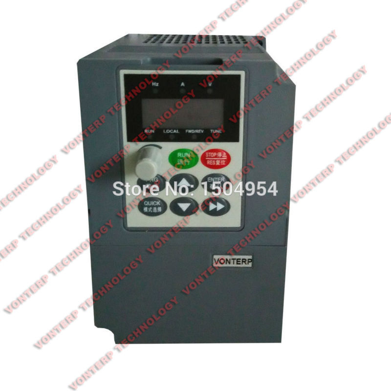 220V 1.5kw 7A Single phase input and 220v 3 phase output vector Frequency converter/variable speed drive220V 1.5kw 7A Single phase input and 220v 3 phase output vector Frequency converter/variable speed drive
