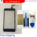 Ferramentas + 100% nova touch screen para zte blade l3 painel da tela de toque capacitivo sensor de vidro para zte blade l3 preto