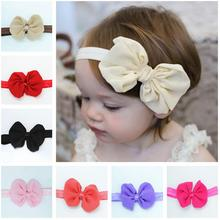 Baby Kids Girls Mini Bowknot Hairband Elastic Headband Dropshipping newborn baby girl headbands hairband