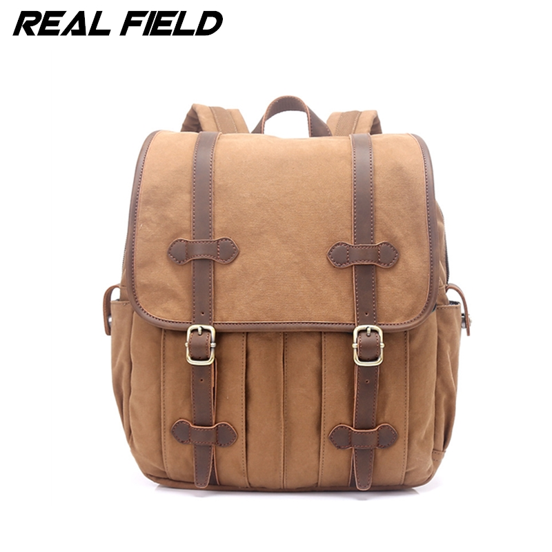 Real Field Canvas Backpack Men Multifunctional Travel Large Capacity Laptop Shoulder School Bags Teenagers Casual Rucksack 266 large capacity backpack laptop luggage travel school bags unisex men women canvas backpacks high quality casual rucksack purse