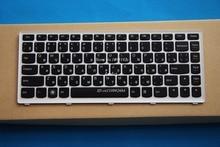 New Original Keyboard for Lenovo IdeaPad U310 Keyboard RU Rusian Black Key Silver White Frame