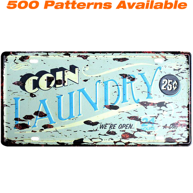 Laundry ] Car American License Plate USA Vintage Home Decor Tin Sign ...
