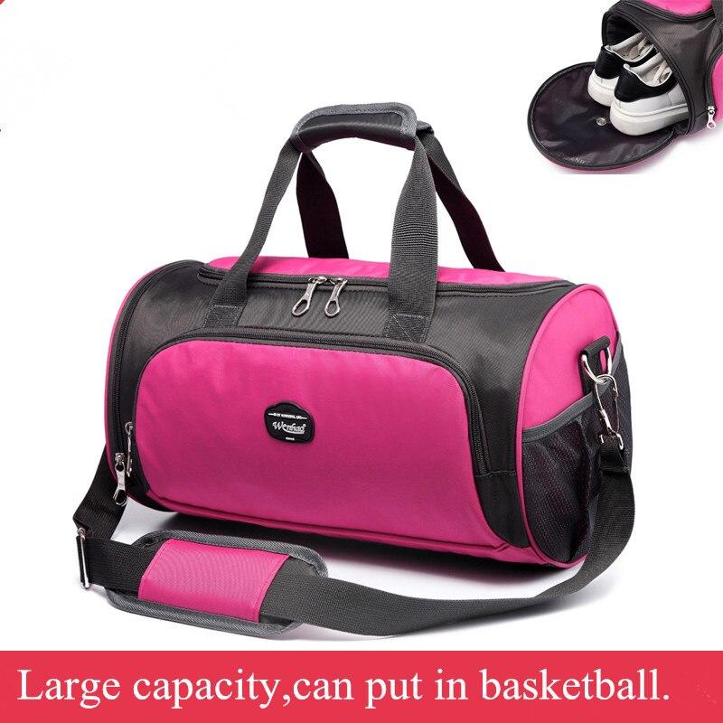 Prix pour Multi-fonction 6 couleurs gym sac Fitness Duffel Fourre-Tout Voyage Épaule Sac À Main Gym Sport Sac bolsa gimnasio mujer 034