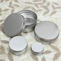 Empty Aluminum Cream Jar Tin Cosmetic Lip Balm Containers Nail Derocation Crafts Pot Bottle Screw Thread 15ml/50ml/100ml/150ml