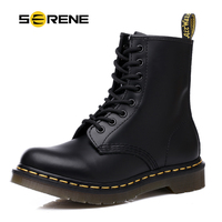 SERENE Brand 2019 New Men PU Leather Boot Men's Desert Military Shoes Safety Shoes Ankle Motocycle Boots Casual Footwear
