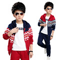 2016 New Fashion Kids Clothes Boys Jackets Set Hoodies Coats+Pants 2 pcs Baby Boy Clothing Set Boy Autumn Winter Clothes Sets
