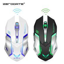 DASENLON STORE Zerodate игровая мышь, 2,4 ГГц Беспроводная мышь, игровая мышь со встроенным аккумулятором 600 мАч