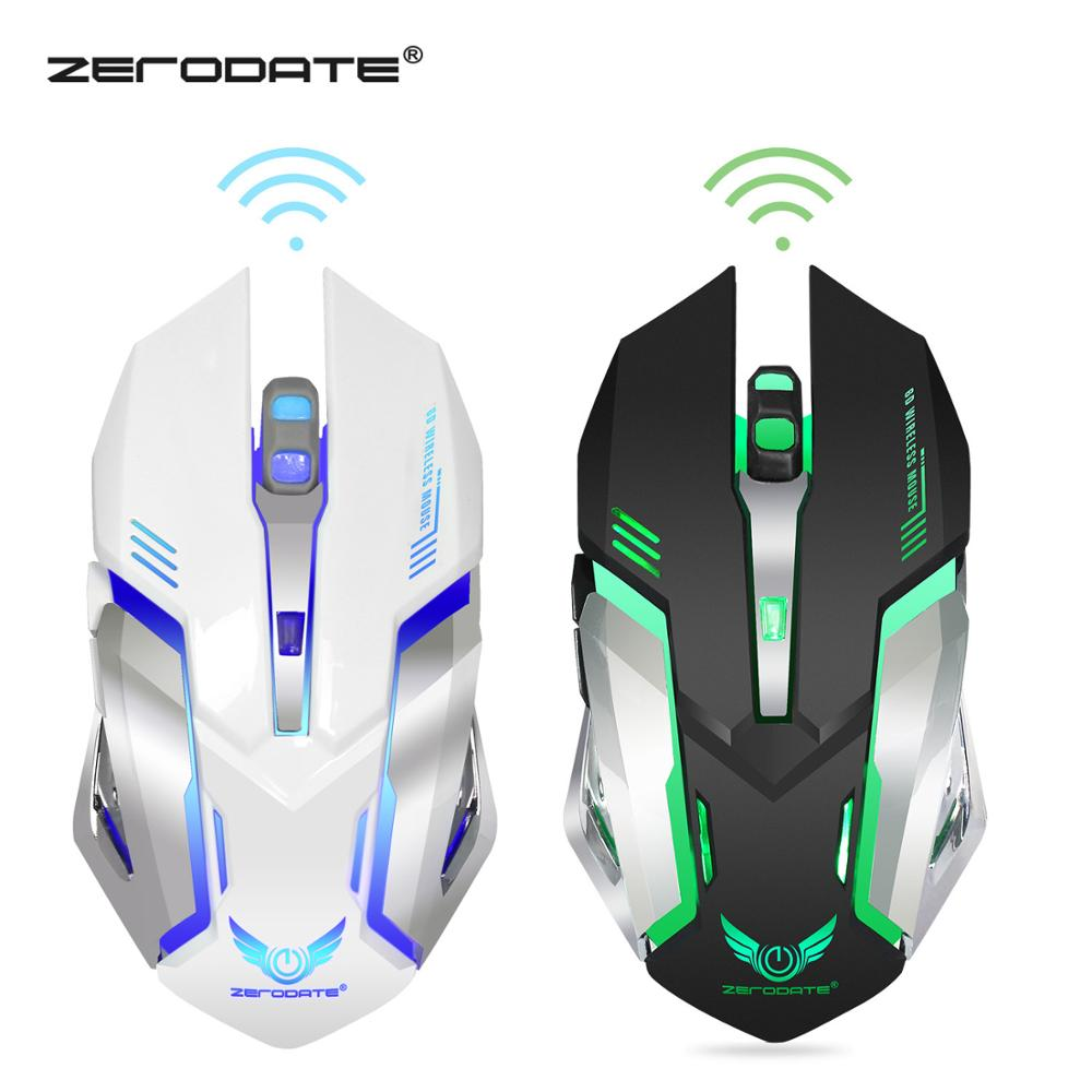 DASENLON STORE Zerodate Gaming Mouse,  2.4GHz Wireless Gaming Mouse Built-in With 600 MAh Rechargeable Battery