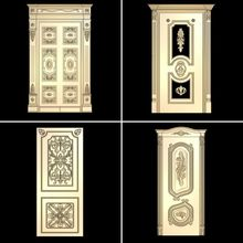 4pcs doors 3d model STL relief for cnc STL format door 3d model for cnc stl relief artcam vectric aspire