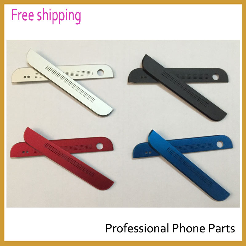 Original For HTC ONE M7 801s 801n Front Camera Top Bottom Housing Cover Case Replacement Black blue Sliver red Color