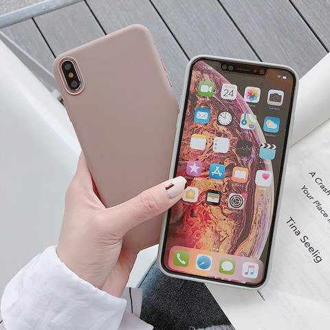 Ultra thin Solid Color Cases For iPhone 4 4s 5S SE 6 6S 7 8 Plus XR XS 11 Pro Max Soft TPU Case Phone Cover Lahore