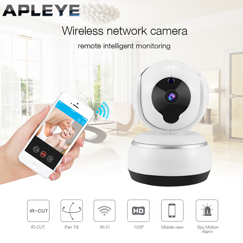 APLEYE 720P IP Camera Smart Pan&Tilt Wifi Camera V380 App P2P Cloud Two Way Audio Wireless Network Security Indoor Home Camera howell wireless security hd 960p wifi ip camera p2p pan tilt motion detection video baby monitor 2 way audio and ir night vision
