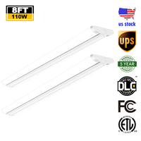 110W Commercial Lighting LED Ultra Slim Garage Lighting Fixture LED 8ft Light LED Flush Mount Lights for Supermarket Shop Retail