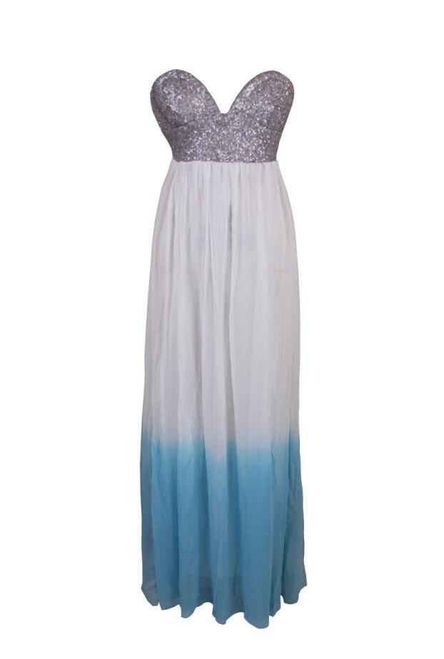 98c2af587 Maxi evening elegante vestidos de festa até o chão azul e branco gatsby túnica  vestido de verão fora do ombro sem encosto 2018 mulheres de vestido de ...