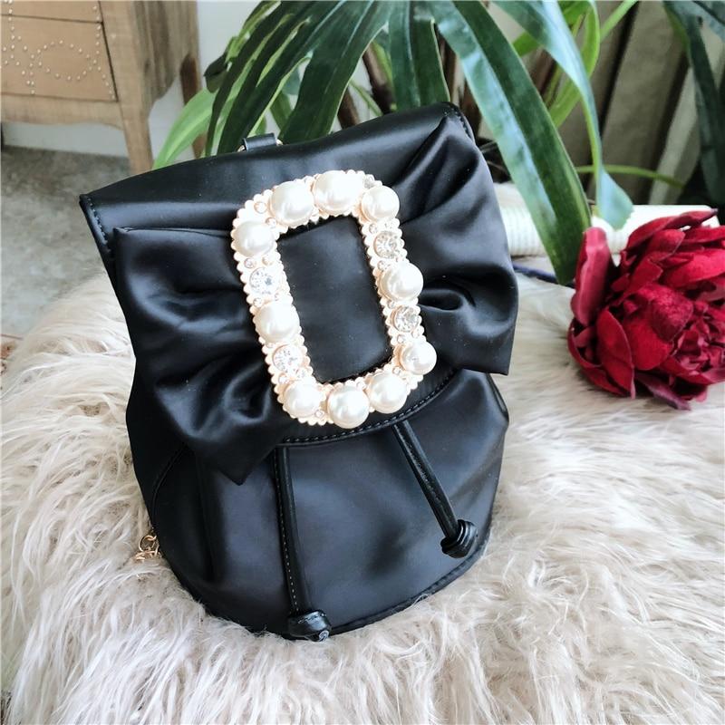 Moda Mochilas Zaino funzione Oxford Black Bag Viaggio Multi Carino Borse Shopping Casual Scuola Donne Fiocco Impermeabile Da Zaini gaxxdzfqn