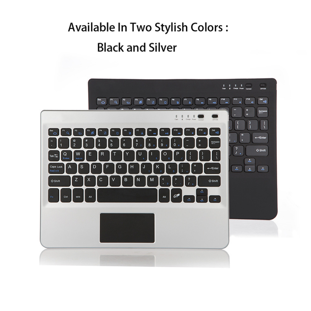 Multifunctional Super Thin Slim Aluminum Bluetooth Keyboard For Laptop Fit For 7/8/9/10 Inch Tablets Silver/Black Best Gifts laptop keyboard for acer silver without frame bulgaria bu v 121646ck2 bg aezqs100110