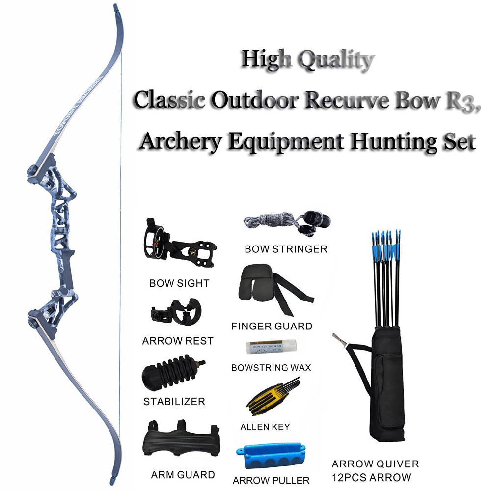 Image 2 - Outdoor Crossbow Hunting Recurve Bow R3 Bow For Shooting Arco e flecha Archery Equipment Suit High Quality-in Bow & Arrow from Sports & Entertainment