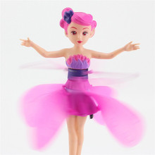 Flying doll toy Flying Fairy electronic toys flitter fairies for Girl RC Remote Control Toys Hand Sense Battery Operated