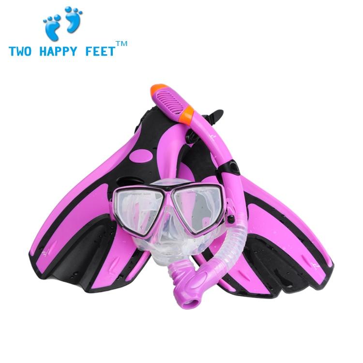 YonSub diving combo set  fin+diving mask+snorkel purple adult цены онлайн